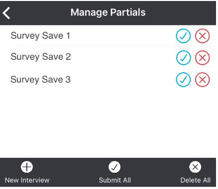 manage partials dialogue