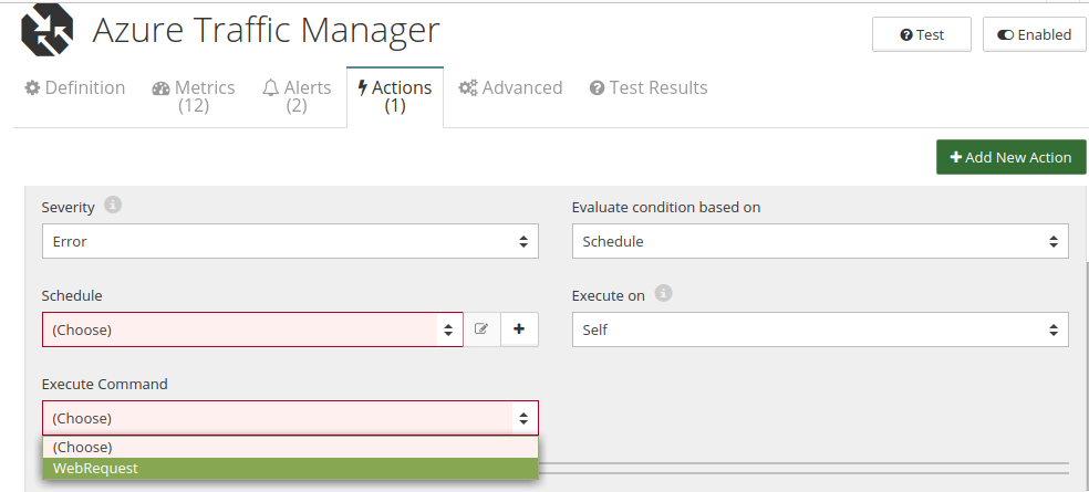 CloudMonix Azure Traffic Manager automation