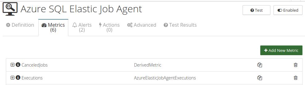CloudMonix Azure SQL Elastic Job Agent monitoring metrics