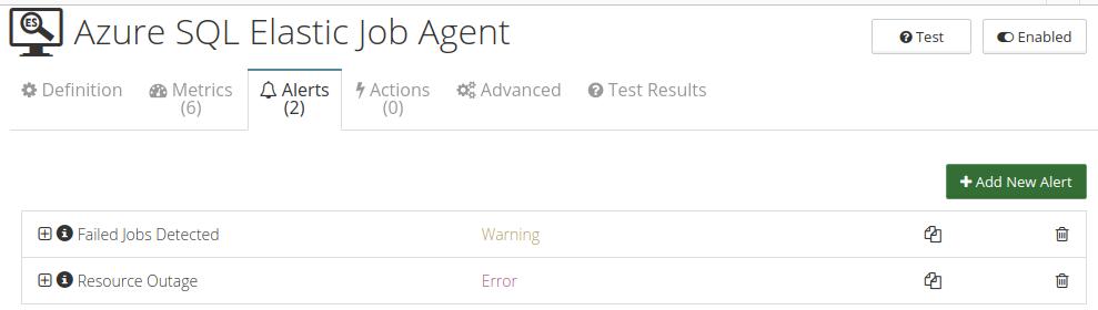 CloudMonix alerts for Azure SQL Elastic Job Agent