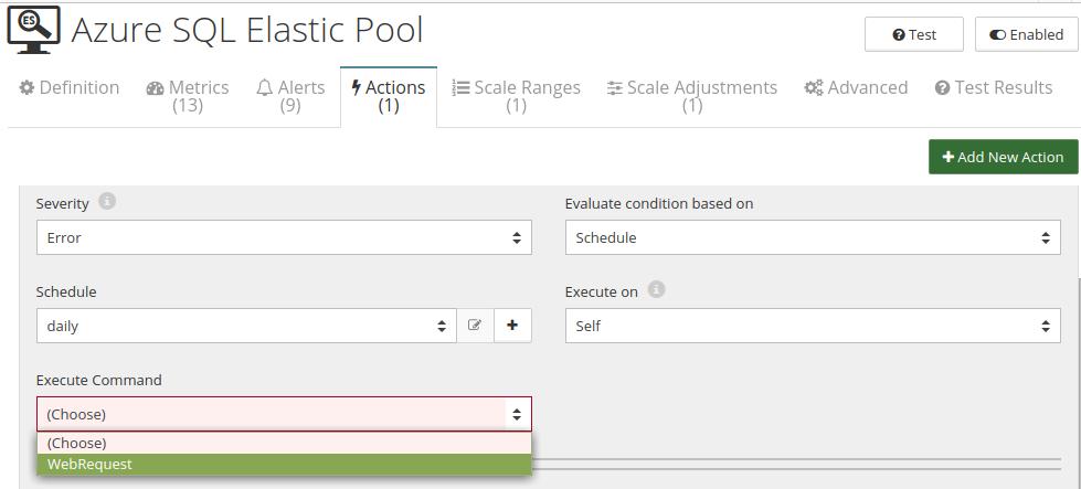 CloudMonix Azure SQL Elastic Pool automation