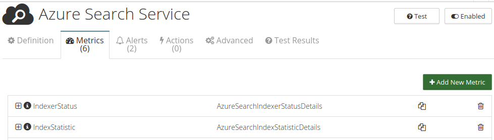 CloudMonix Azure Cognitive Search monitoring metrics