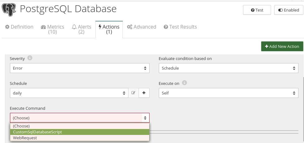 CloudMonix PostgreSQL Database automation