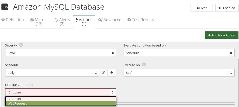 CloudMonix Amazon MySQL Database automation