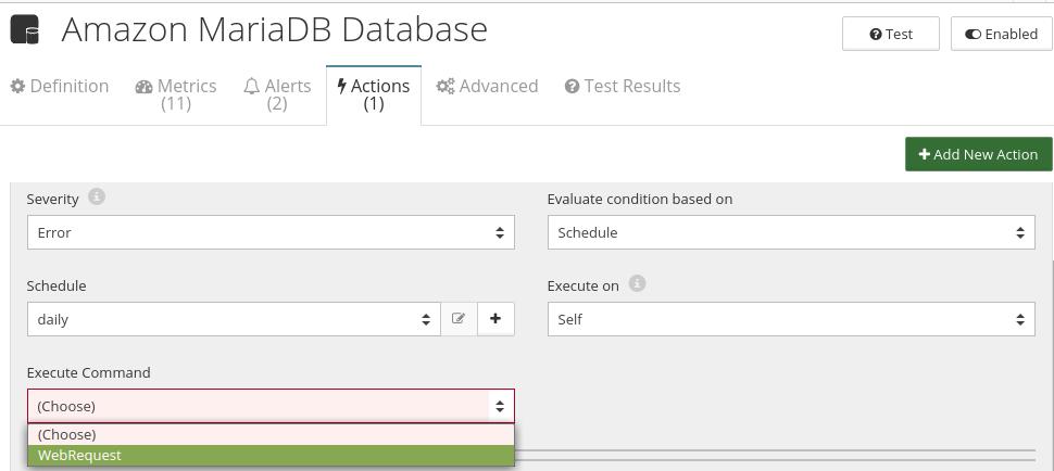 CloudMonix Amazon MariaDB Database automation