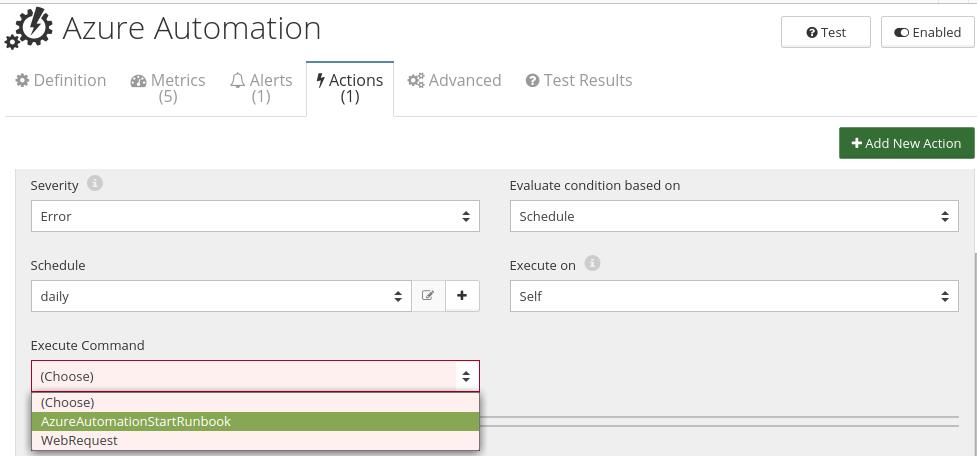 CloudMonix Azure Automation actions