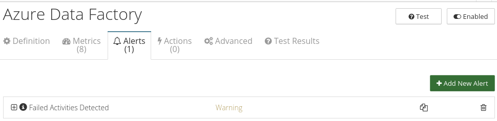 CloudMonix alerts for Azure Data Factory