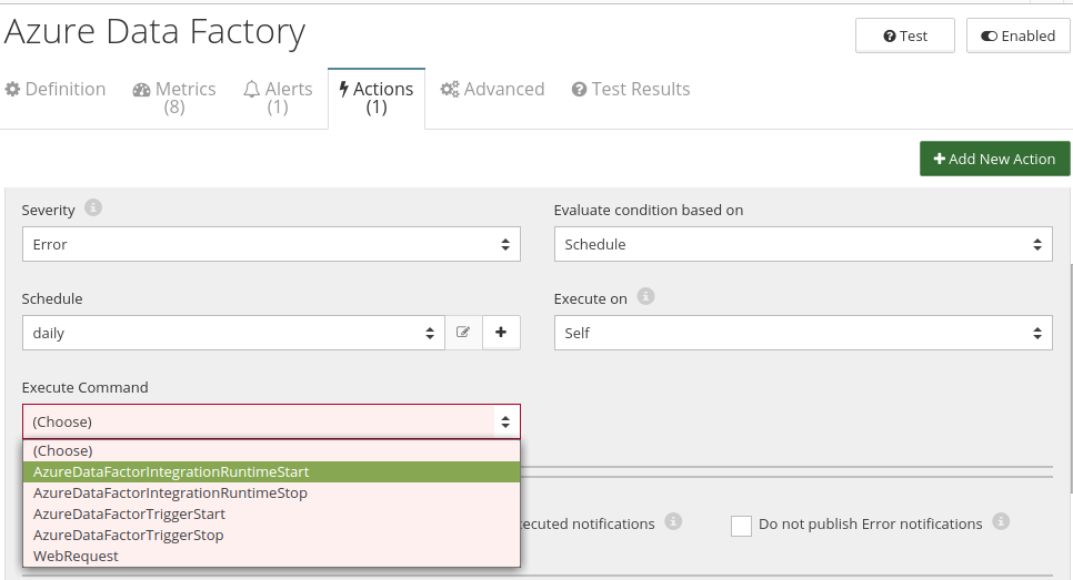 CloudMonix Azure Data Factory actions