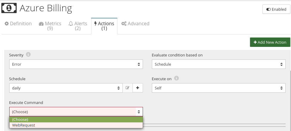 CloudMonix Azure Billing actions