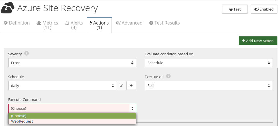 CloudMonix Azure Site Recovery actions