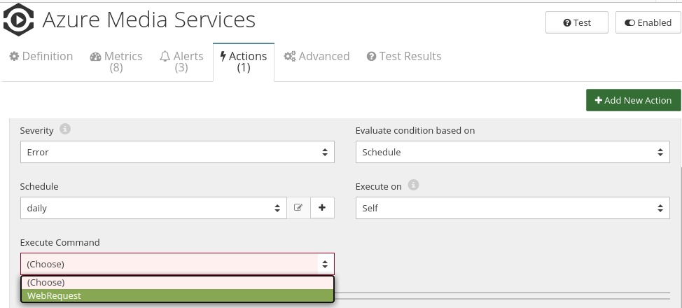 CloudMonix Azure Media Services actions