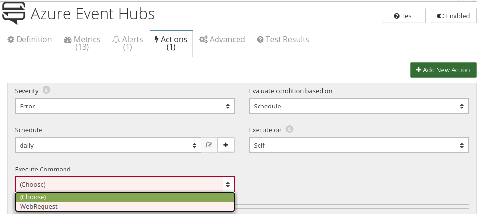 CloudMonix Azure Event Hub actions