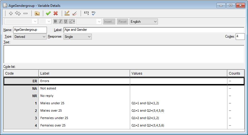 AgeGendergroup Variables Details