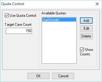 Quota control - activate