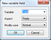 Step 9 new variable field