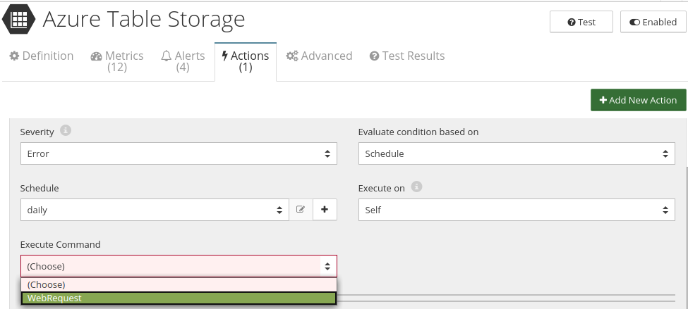 CloudMonix Azure Table Storage automation