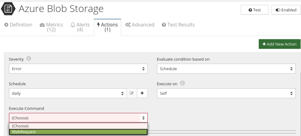 CloudMonix Azure Blob Storage automation