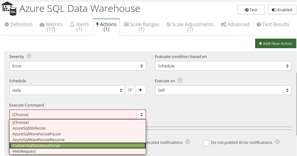 CloudMonix Azure SQL Data Warehouse automation