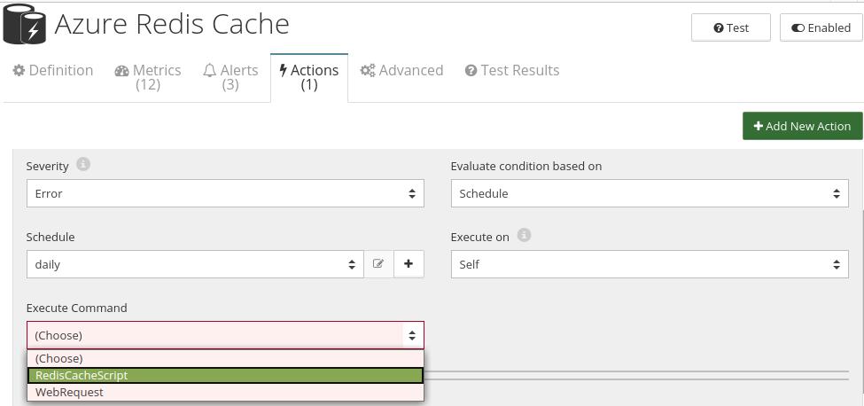 CloudMonix Azure Redis Cache automation