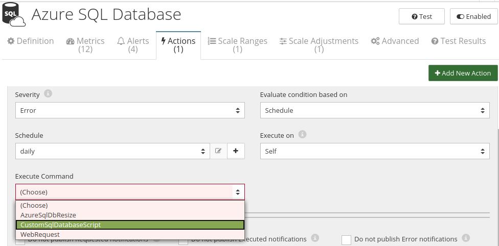 CloudMonix Azure SQL Database automation