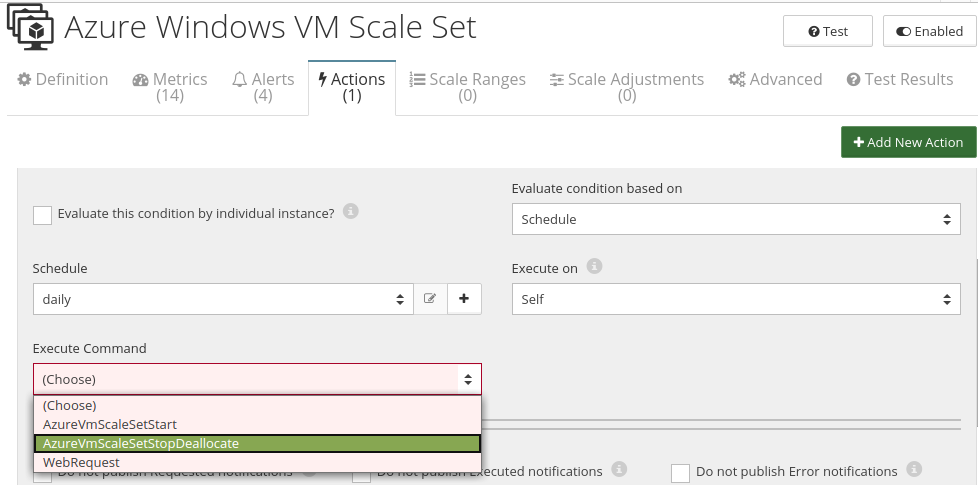 CloudMonix Azure Windows VM Scale Set automation
