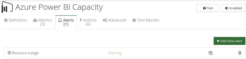 CloudMonix alerts for Azure Power BI Embedded Capacity