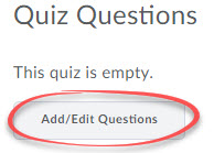 add edit questions button