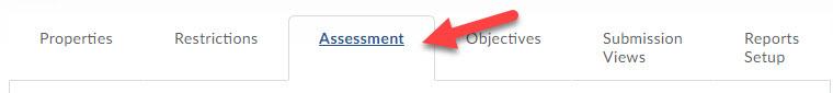 assessment tab