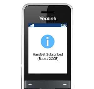 handset subscribed