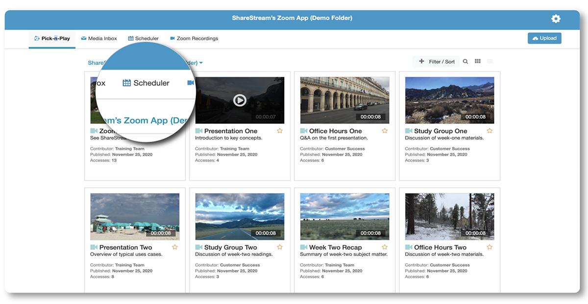 Accessing ShareStream's Capture Scheduler application