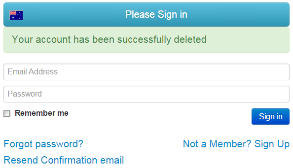 How to delete your care account