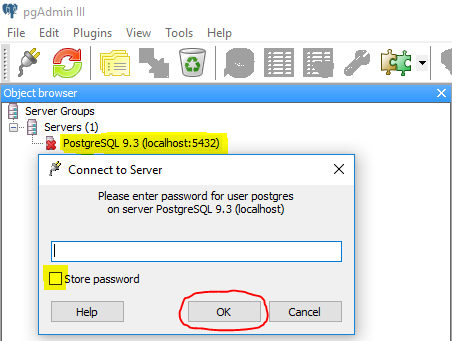 Changing the master PostgreSQL password (HTTP Error 500: Internal