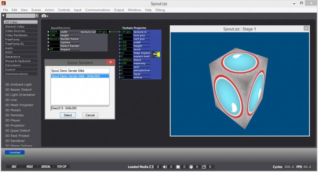 Using Spout FFGL Video Sharing on Windows : TroikaTronix
