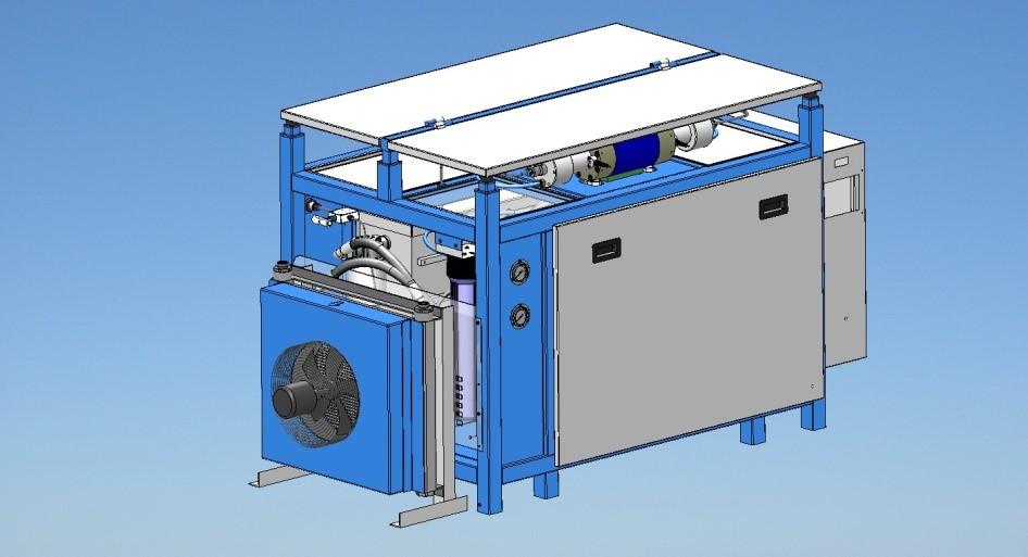 three oil cooling ways : avwaterjet