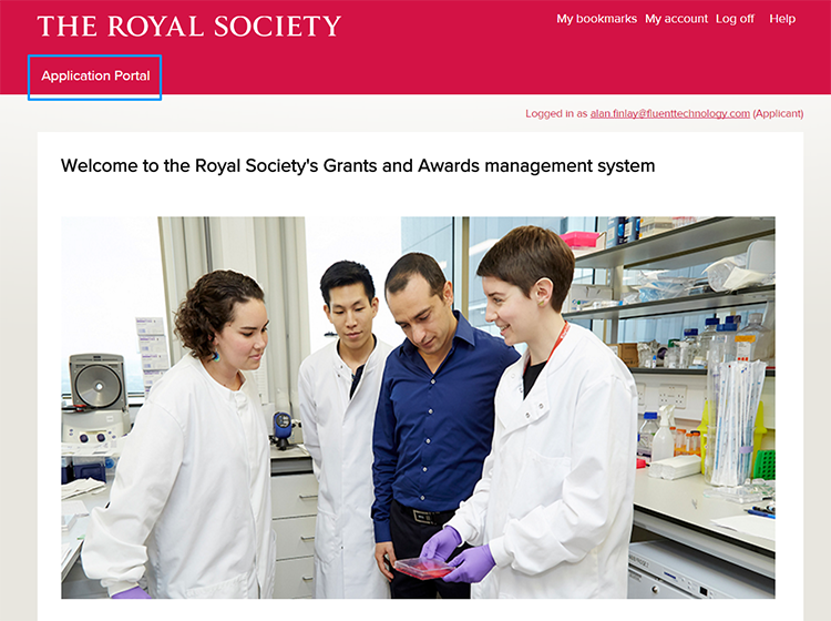 The Royal Society Application Portal