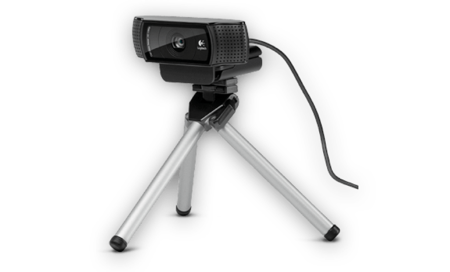 The Logitech C920 USB webcam is a popular and inexpensive hardware option for live video.