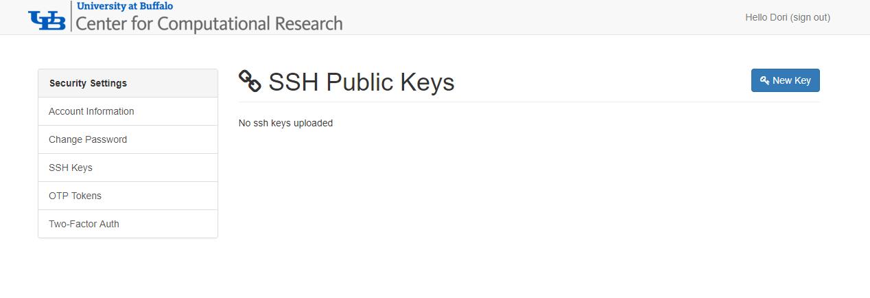Managing SSH Public Keys in the Identity Management Portal