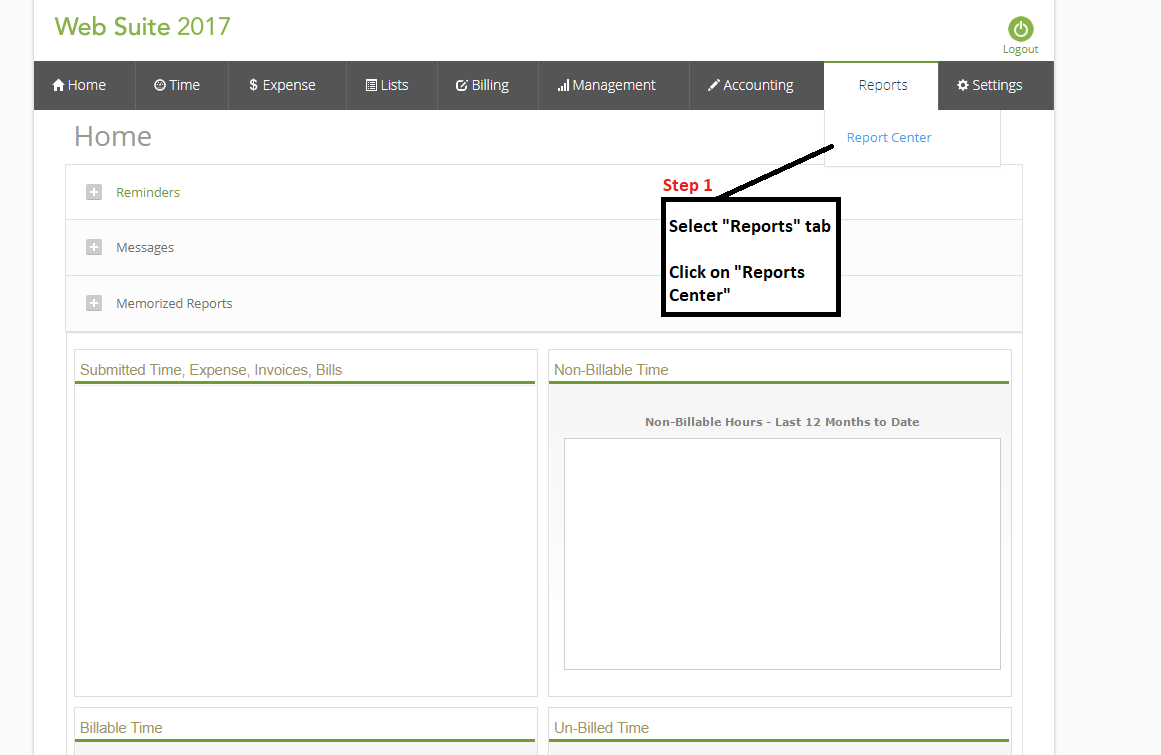 Websuite - Accounts Receivable Report (AR Aging Summary