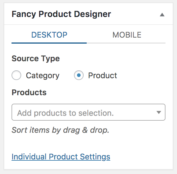 Fancy Product Designer meta box