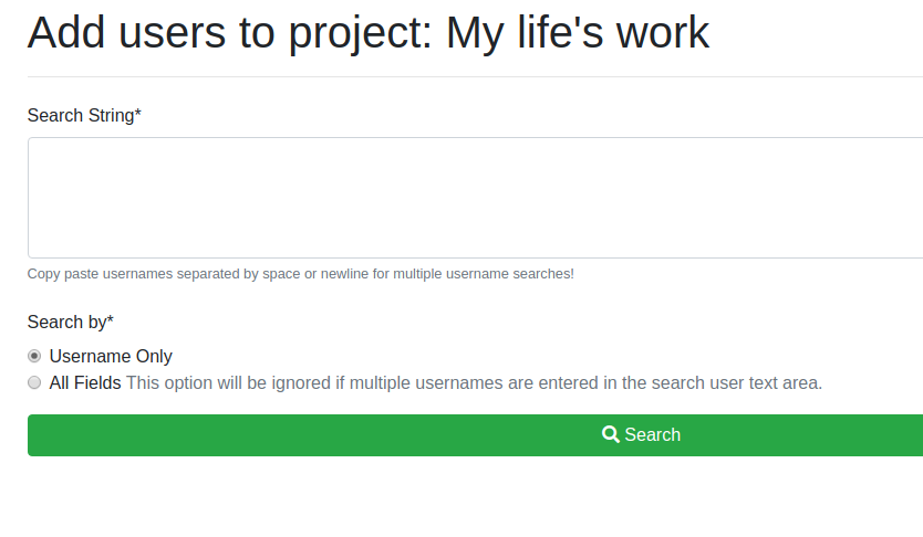 Adding Users to your Project or Allocation : Center for
