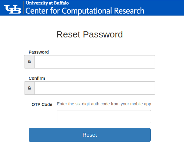 Change or reset your password : Center for Computational Research