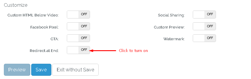 How can I redirect visitor to my link? : Support Center
