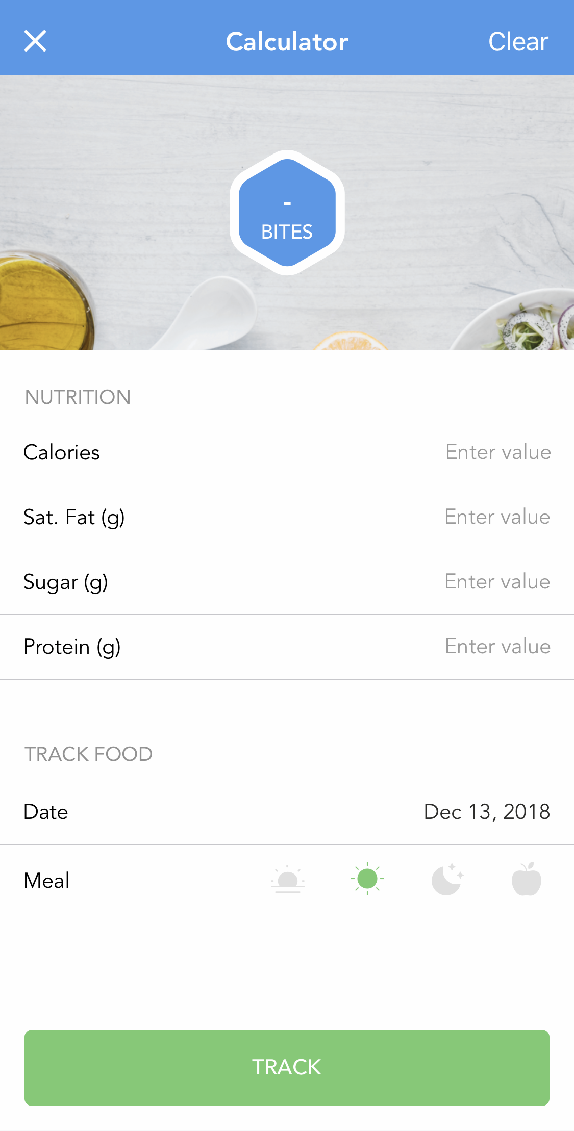I Track Bites >> How To Quickly Add Itrackbites