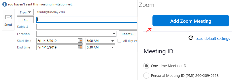 How to add Zoom to Outlook : ITS Help Desk