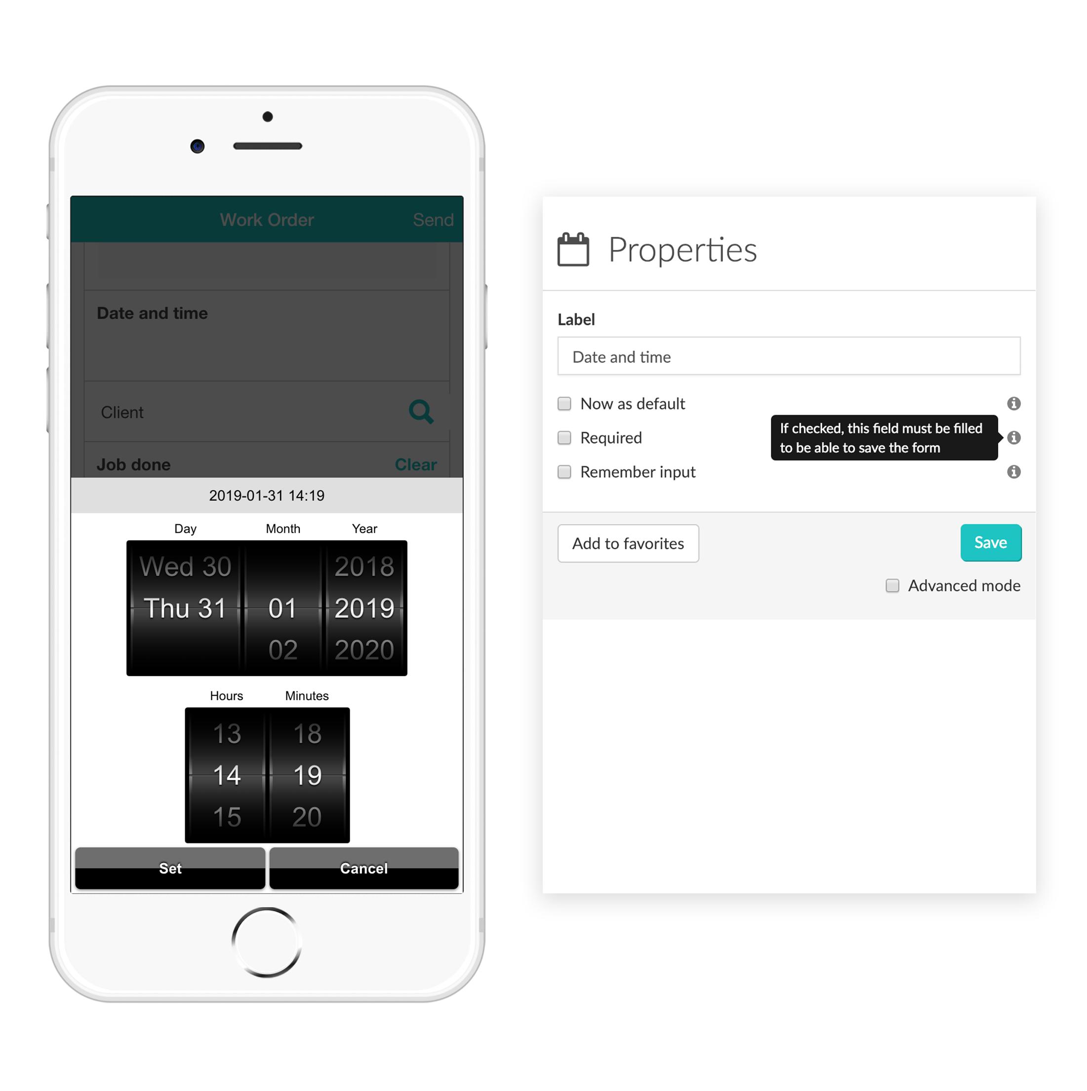 Widget-Time MoreApp Formularios