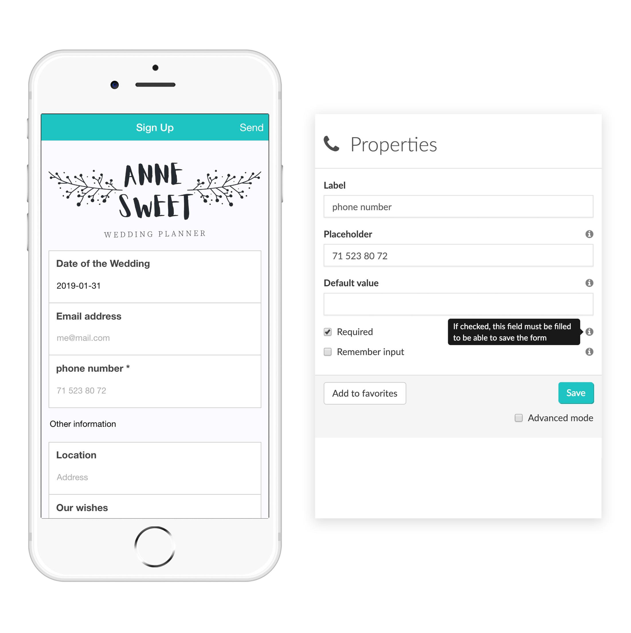 Widget-Phone MoreApp Formularios