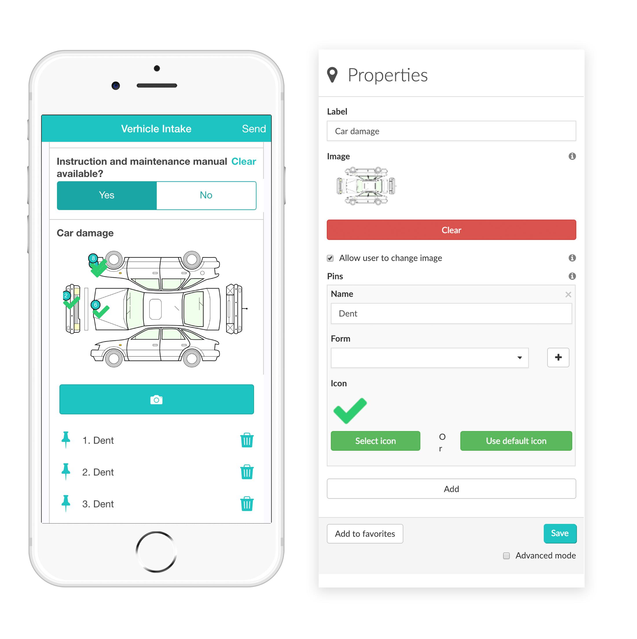 Widget-Pin MoreApp Formularios