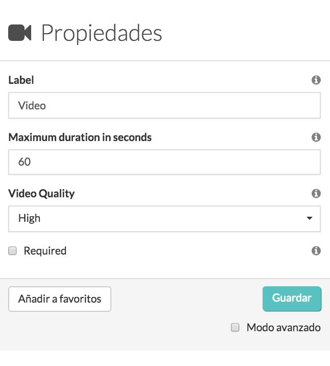 Configura el widget-Video MoreApp