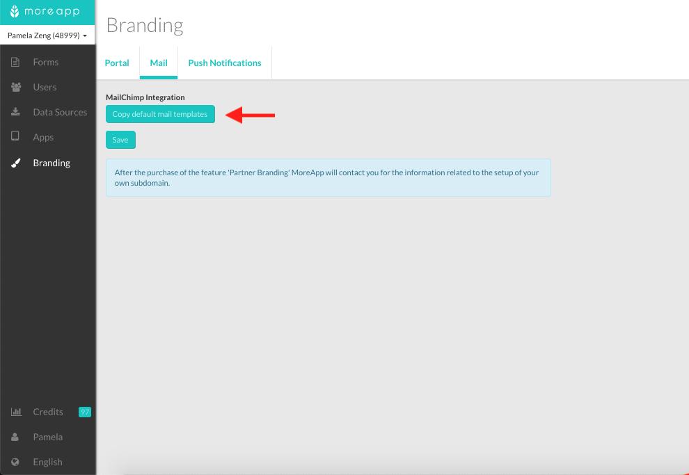 Cómo personalizar los Emails de MoreApp   MoreApp : Help Center