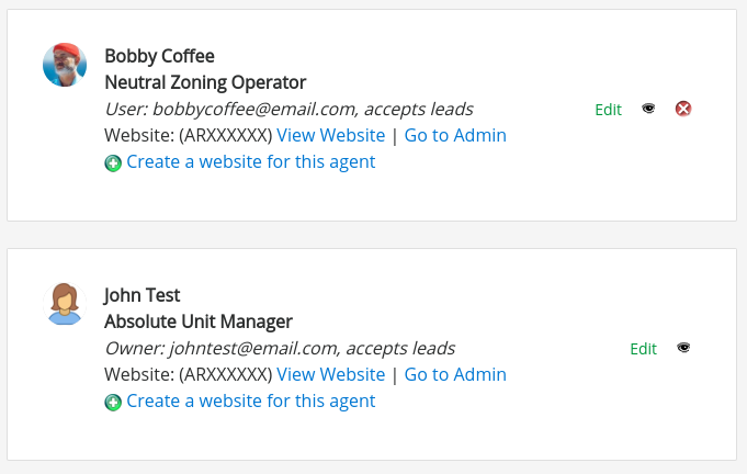 OFFICES ONLY- Agent Profiles : iHOUSEweb Support